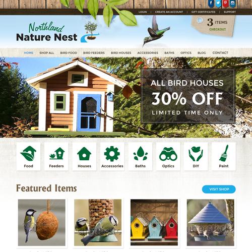 Website Design for an Online Nature Bird eCommerce Store