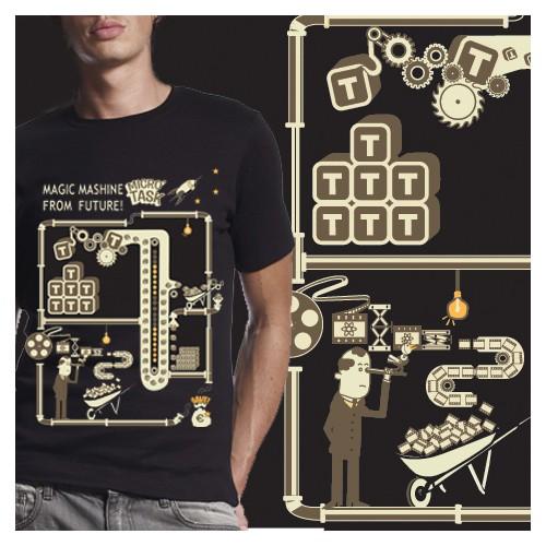 Tshirt Illustration for Microtask
