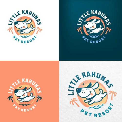 Logo for a dog resort in tropics