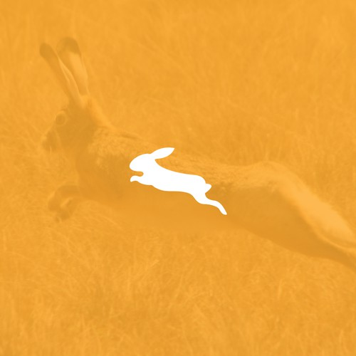 Jumping Hare silhouette.