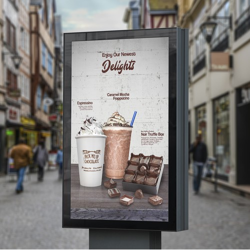 Signage Design for Chocolate Shop's New Products