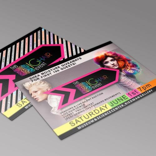 FASHION FORWARD/EDGY FLYER for hair/runway show!