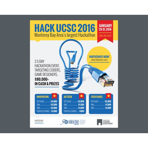 Poster design for Hack UCSC 2016