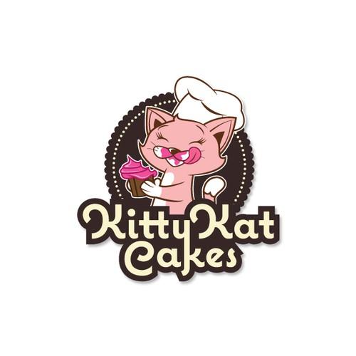 Logo Design for Kitty Kat Cakes