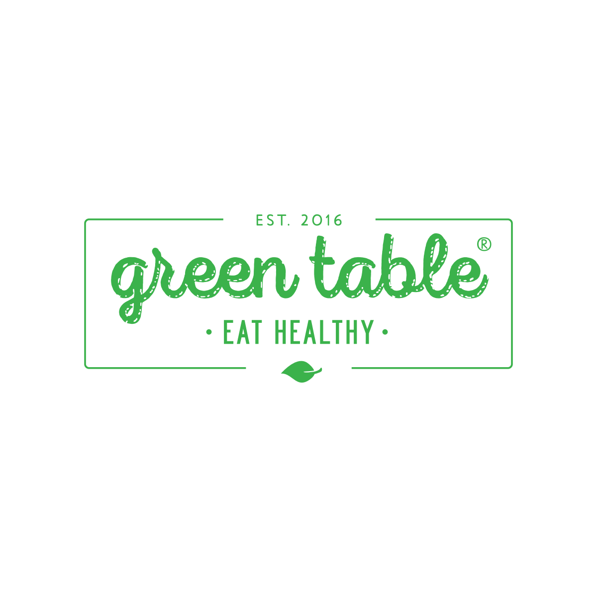 Green Table Logo with the mark symbol: ®