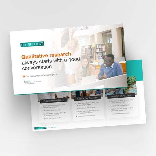 Report powerpoint template design