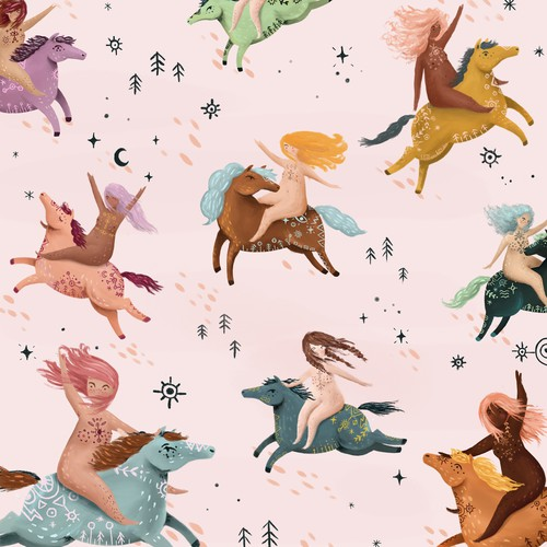 Cute illustration for pillow cover