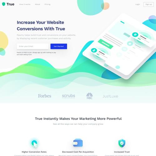 Fun Energetic web design concept