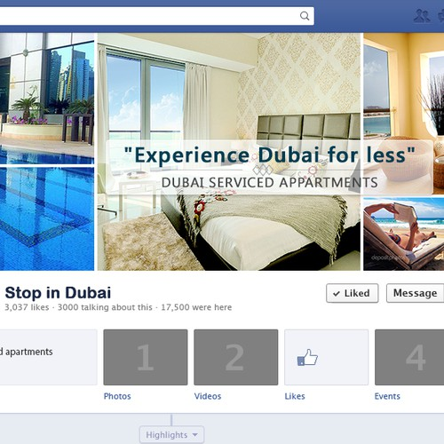 Create attractive Facebook page for Dubai Holidays Maker