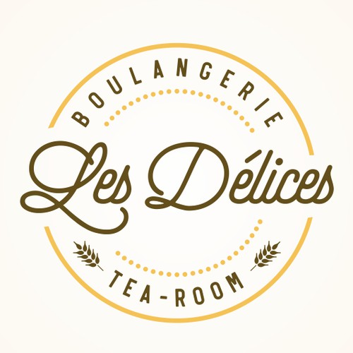simple logo for bakery and tea-room
