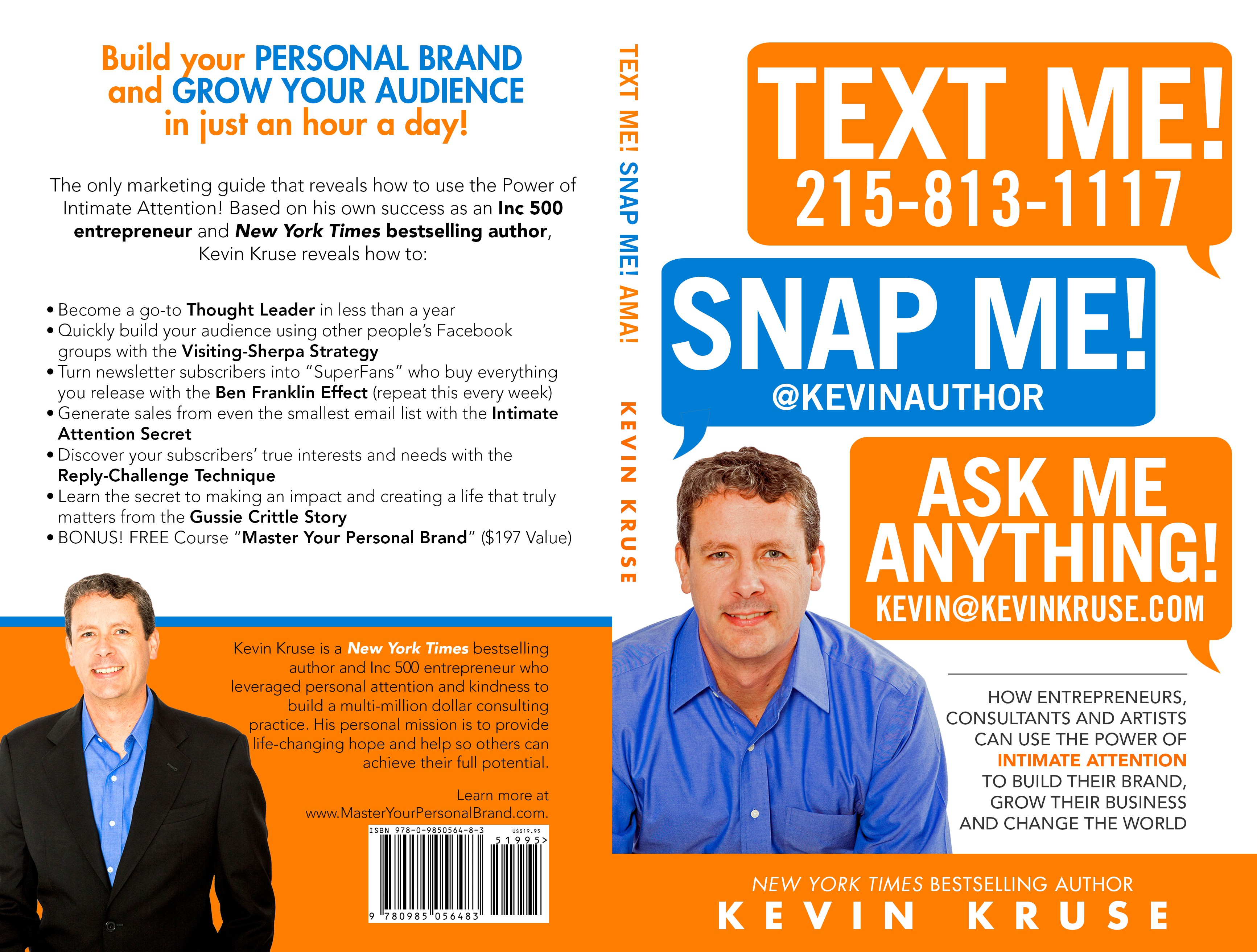 Non-fiction book cover for NY TIMES BESTSELLING AUTHOR