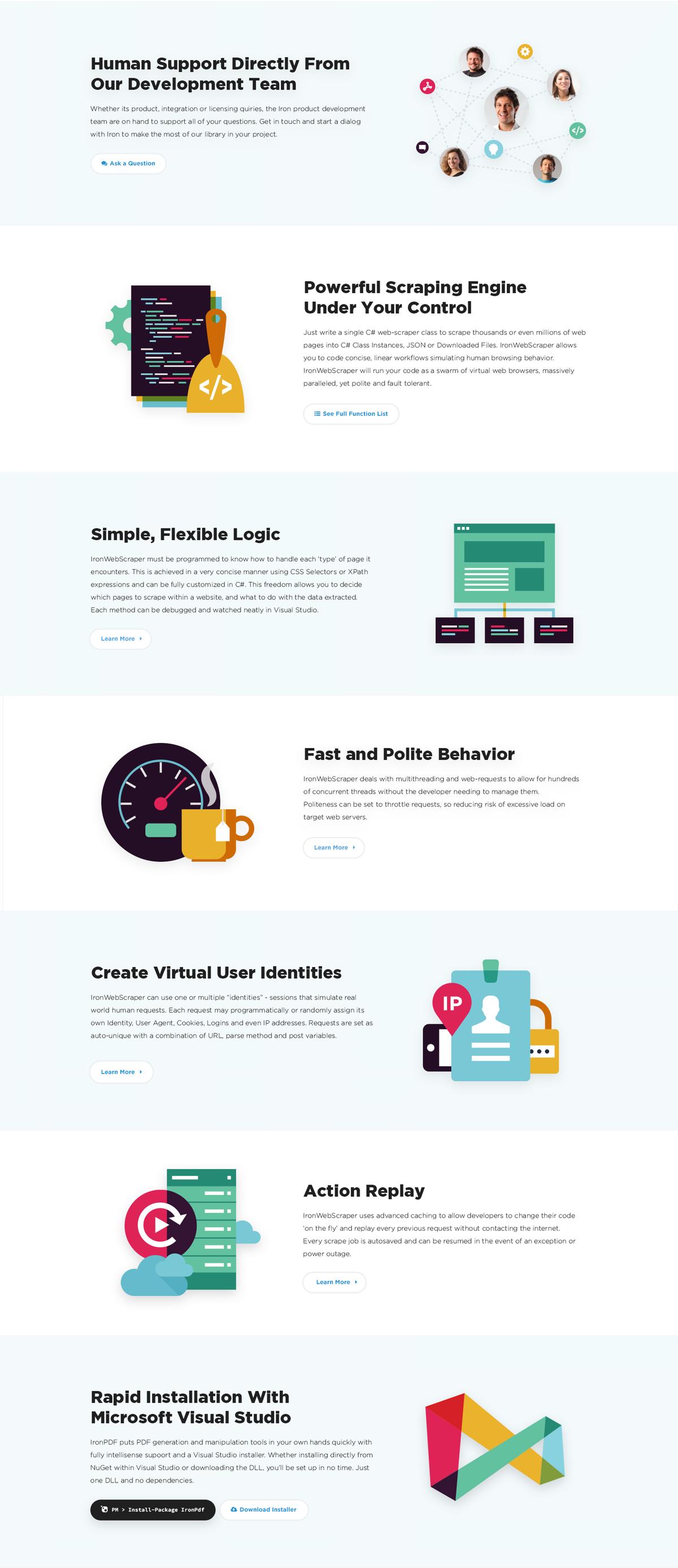 Icon set for Web Scraper Product.