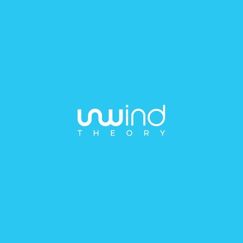 Trendy, Tranquil, Clean Logo for Unwind Theory