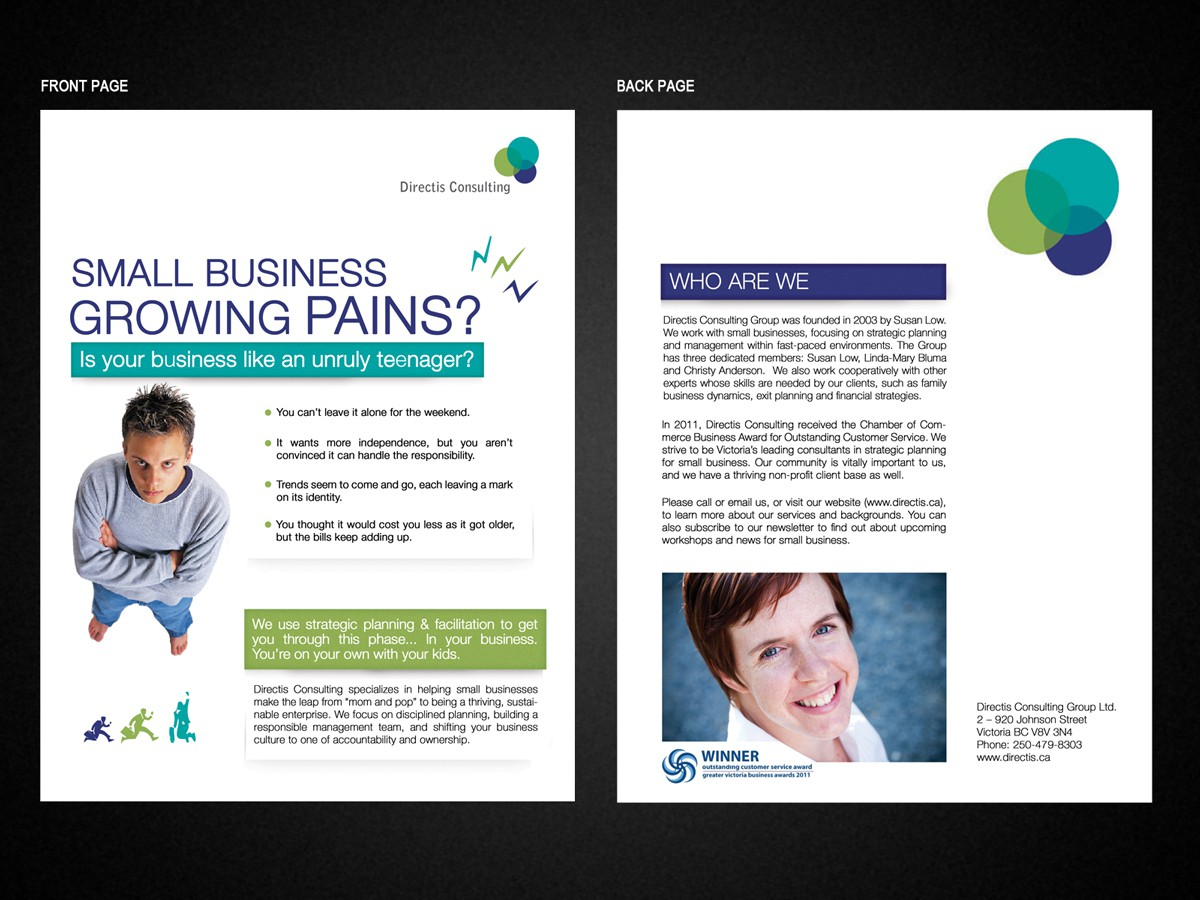 Simple brochure for small business consulting firm