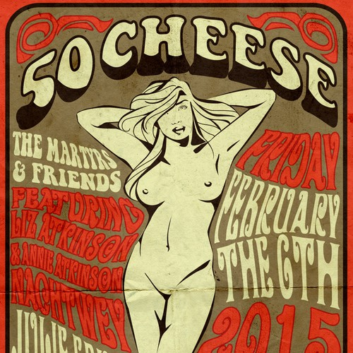 50Cheese - help me create a Fillmore style event poster