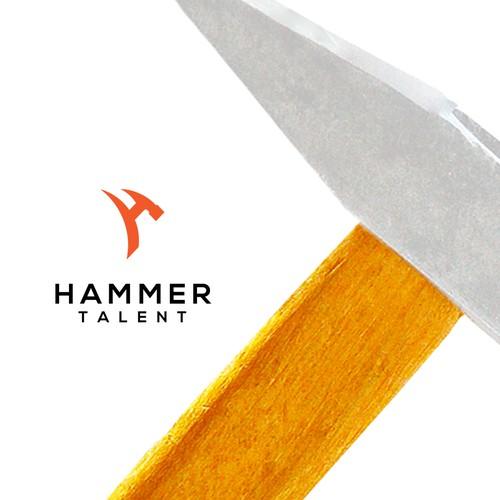 Simple and Elegant Logo Hammer Talent