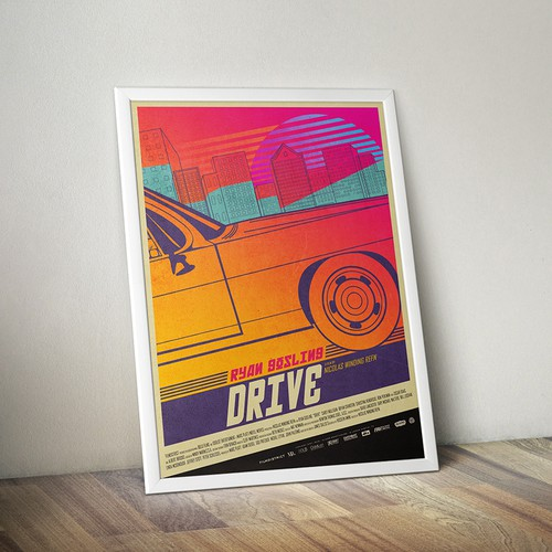 DRIVE POSTER - Ultimate 80's Movie Poster Contest
