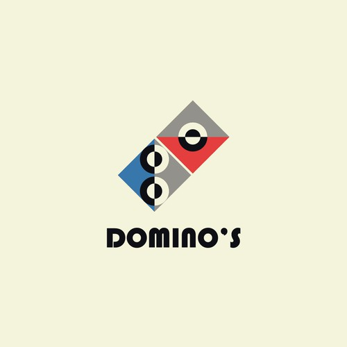The Domino's logo with a Bauhaus treatment