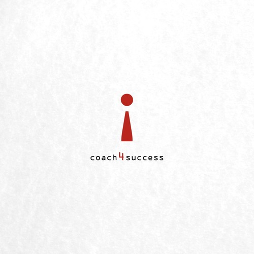 Simple logo for coach