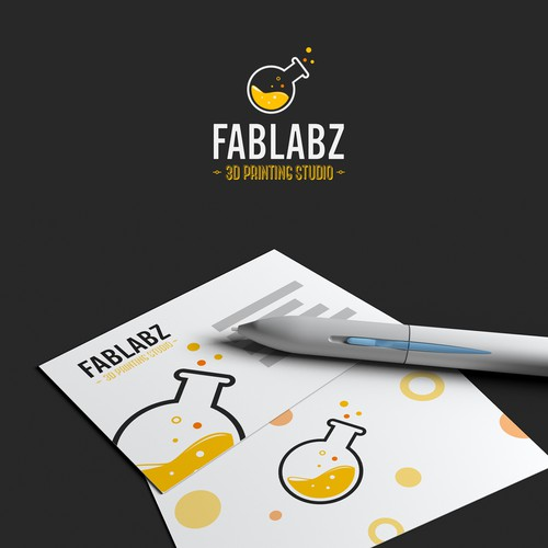 Logo for a 3d printing studio.