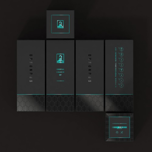 Design premium looking cocktail set packaging
