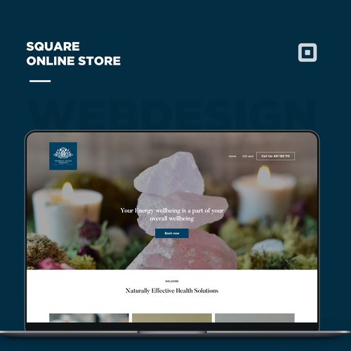 One page site for Crystal therapist