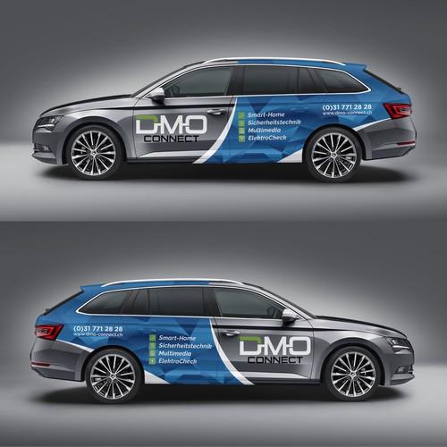 DMO  connect car wrap