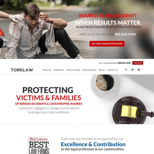 Stunning Homepage Redesign Needed for TORKLAW