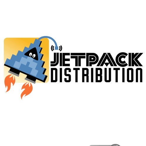 Create a fun brand identity for a new TV company called Jetpack Distribution