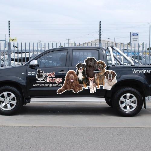 Wrap veterinary clinics car