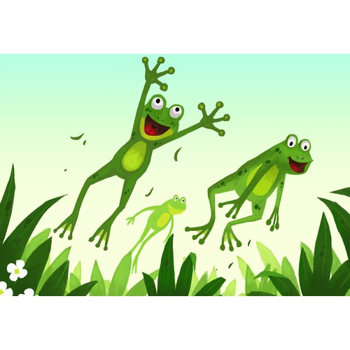 Frogs leaping