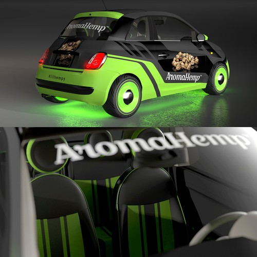Fiat 500 pop wrap design