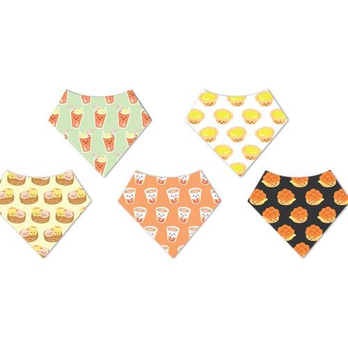 Hong Kong food baby bib bandana