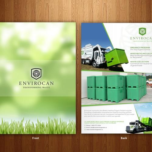 Clean flyer design for Envirocan