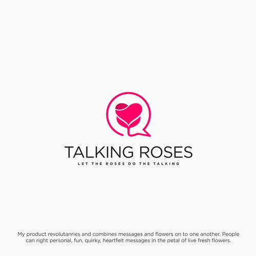 Simple Logo For Talking Rose