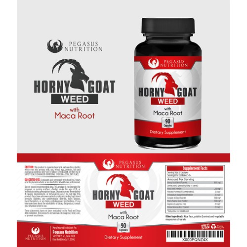 Horny Goat Weed Label Design