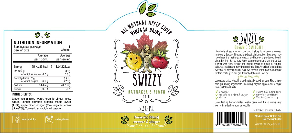 Packaging (labelling) design for Swizzy drinks