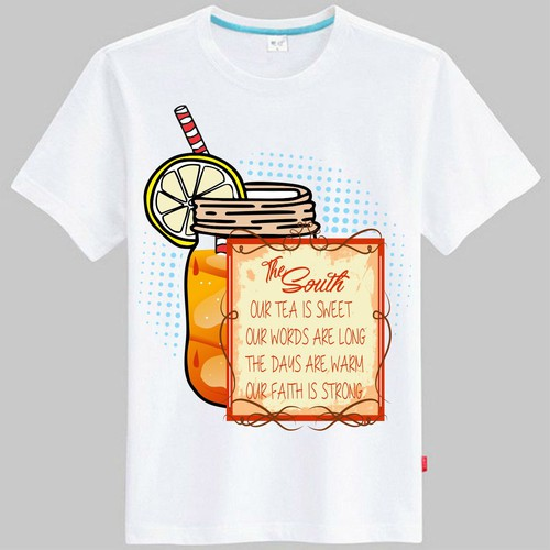 Create a Womens T-shirt design with a United States Southern Culture Feel