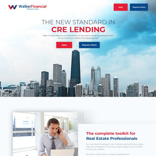 Financial Network WordPress Website Design