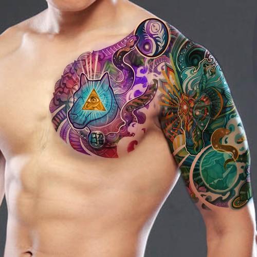 Sth American Spiritual Aztec Tattoo