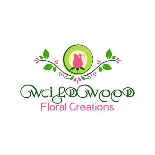 Bold logo for florist