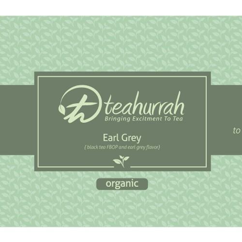 Bold label design for tea company