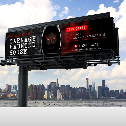 A Billboard Concept for Carnage Haunted House