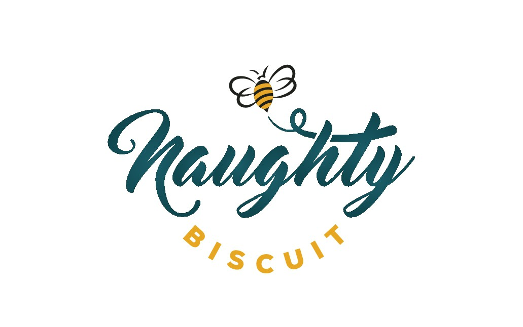 Design a sweet logo for Naughty Biscuit Sweet Shop