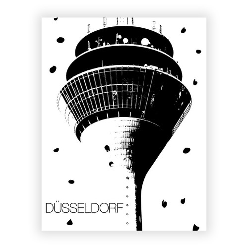 Dusseldorf tower poster