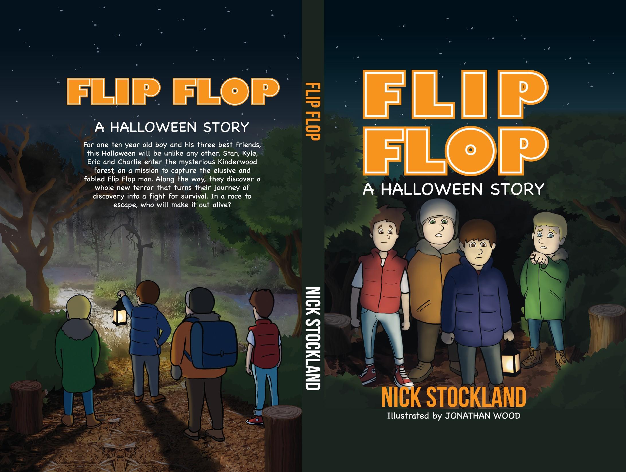 Book Cover Design for a Children's book: Flip Flop - A Halloween Story