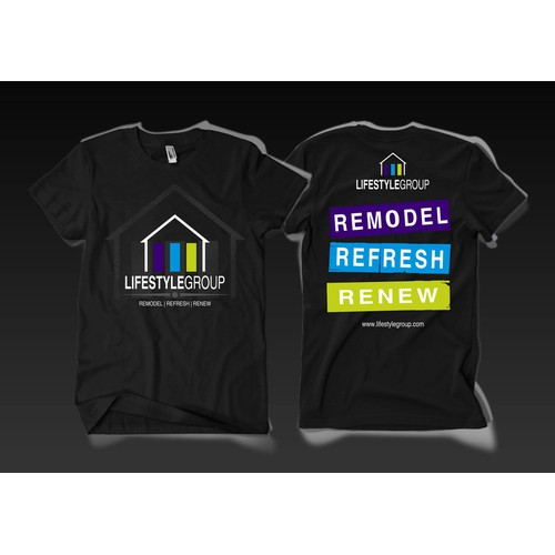 We need an attractive tshirt design for our employees to be proud to wear!
