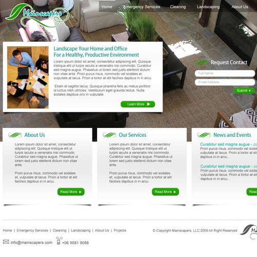 Simple, Clean Site Promoting Healthy Work and Home Environments