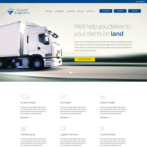 Landing Page for Logistics Company