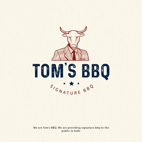 Logo for Tom's BBQ